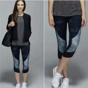 Lululemon Wunder Under Crop Heathered Texture
